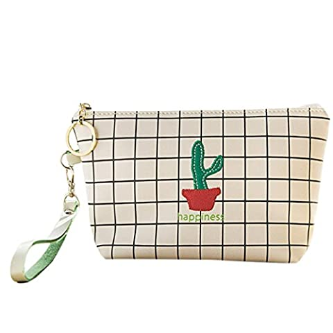 Makalon Women Girl Cute Sanitary Pad Organizer Holder Napkin Towel Convenience Bags (White) - Velvet Lens