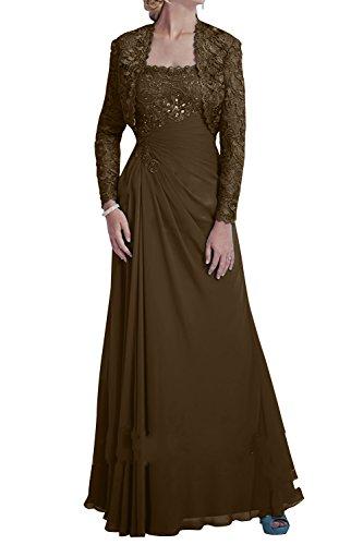 Promkleider Braun mia Abendkleider Jugendweihe Brau Ballkleider Chiffon Kleider Bolero mit Festlichkleider La Brautmutterkleider 84xwpw