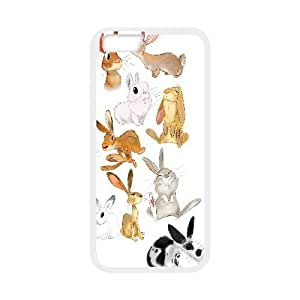 Yearinspace the Rabbit Art IPhone 6 Plus Cases, Girl Design Protective Iphone 6 Plus Cases for Girls {White}