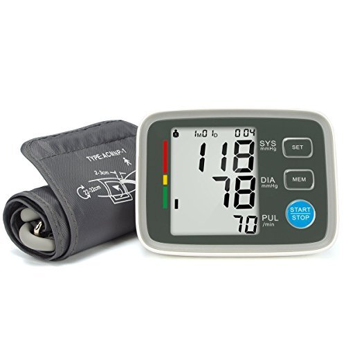 Fam-health Automatic Digital Upper Arm Blood Pressure Monitor Clinically Validated Sphygmomanometer FDA Approved (white)