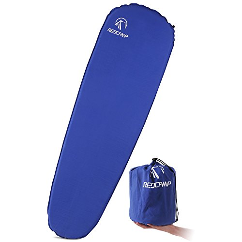 REDCAMP Self Inflating Sleeping Pad for Backpacking   Lighweight, Ultralight, Compact, Foldable & Insulated Sleeping Mat for Women, Men & Adults   Great for Camping, Hiking,Travel, Blue