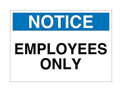 Aviso empleados solamente chapa blanco azul negro decorativo Signs con refranes –  Placa metá lica para la pared de aluminio señ al de seguridad Aersing