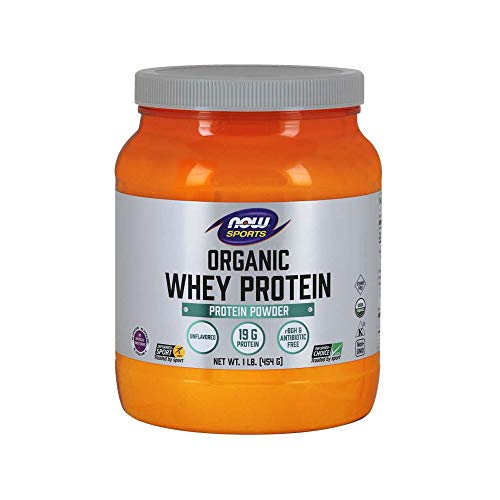 NOW Sports Nutrition, Organic Whey Protein, Unflavored, 1-Pound