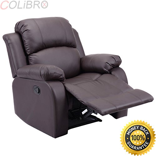 41C9FWfN8FL - COLIBROX--Recliner Sofa Chair PU Leather Ergonomic Padded Seat Lounge Living Room Brown. recliner sofa deals. loveseat reclining sofa chair. power reclining loveseat. big modern brown sofa chair.