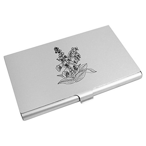 Flower' 'Foxglove Card Azeeda Business Credit Wallet Card CH00013569 Holder qandw57vxd