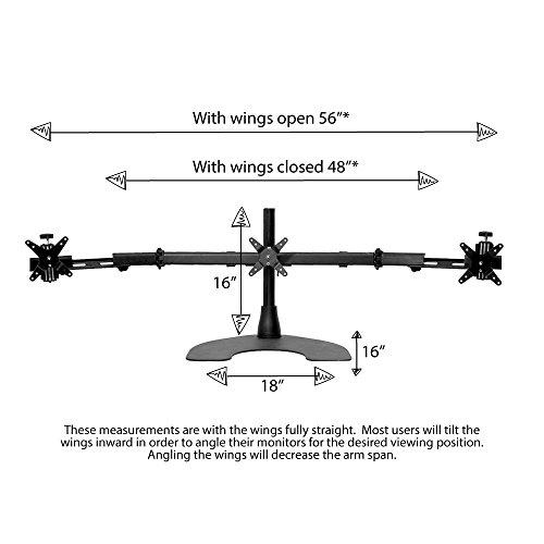 해외 텔레스코픽 날개가 달린 Ergotech 트리플 데스크 스탠드 100 D16 B03 Tw