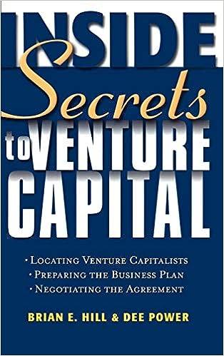 Amazon com: Inside Secrets to Venture Capital (9780471414063