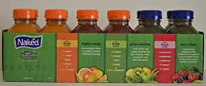 Naked Variety Pack Juice Smoothie Mighty Mango , Green Machine, Berry Blast Total 12 Pack