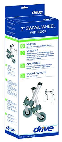 Drive Medical Swivel Wheels, Folding Walker, Lockable by Drive Medical (Image #1)