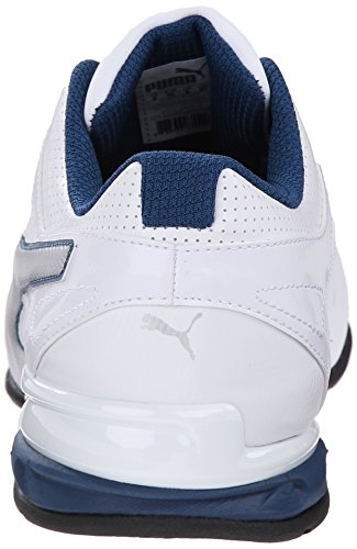 Puma Tazon 6 El entrenamiento cruzado de zapatos White/Silver/Poseidon
