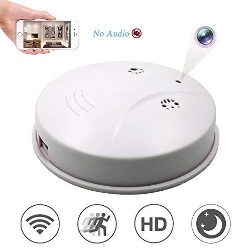 Mobile Detector Phone - Winsper HD 1080P WiFi Camera Smoke Detector, Mobile Phone Remote Monitoring Motion Detection Mini Video Recorder for Home Office Store (Video Only)