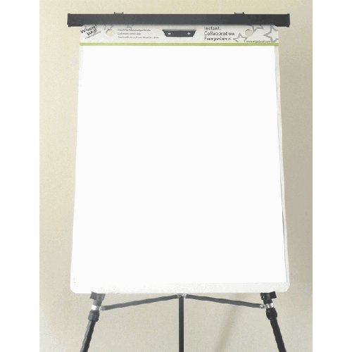 Wizard Wall Easel Pads, Perforated Film Sheets, 24 x 29, White, 15 Sheets/Pad, 2 Pads/Pack