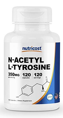 Nutricost N-Acetyl L-Tyrosine (NALT) 350mg, 120 Capsules - Gluten Free, Non-GMO
