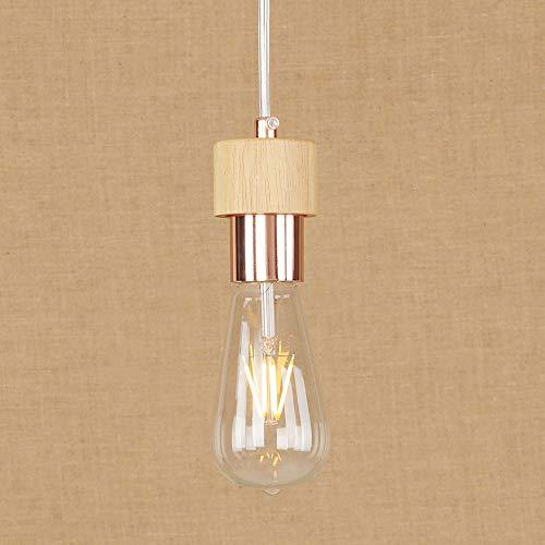 Ganeep Moderna Lámpara Colgante Creativa Diseño DIY Nordic Simple Hierro Forjado Sola Cabeza Colgante de Luz E27 Edison...