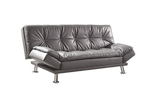 (Dilleston Sofa Bed with Adjustable Armrests Grey)