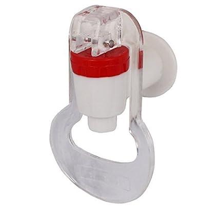 DealMux Cozinha dispensador de água Empurre 3pcs Tipo de plástico torneira Toque Branco Vermelho