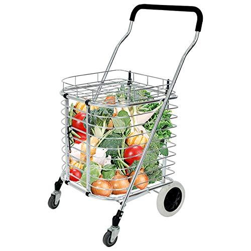 05a47828864f ZSLLO Shopping Trolley Rubber Wheel Stair Shopping Cart Shopping Cart  Trolley Bag Collapsible Reusable Grocery Shopping Bag Eco Supermarket Bag  Easy ...