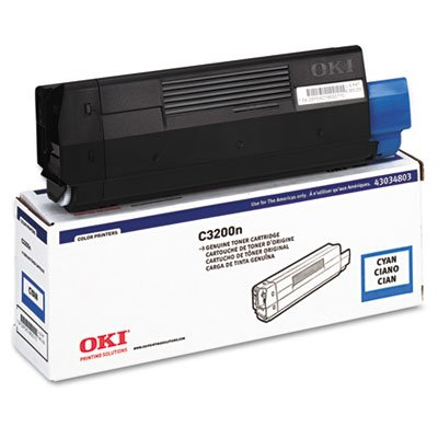 43034803 Toner (Type C6), 1500 Page-Yield, Cyan, Sold as 1 Each 43034803 Cyan Laser Toner