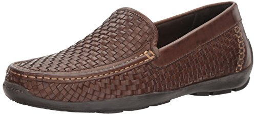 Tommy Bahama Men's Orson Slip-on Loafer, Dark Brown, 11 M US Brown Woven Leather Loafer