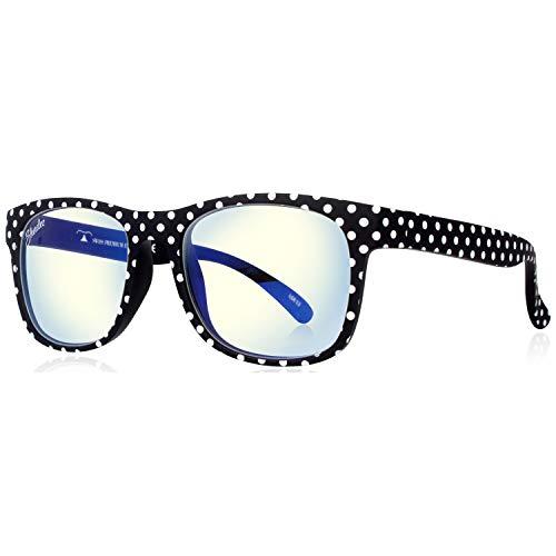 Glasses 136 (SHADEZ Blue Light Blocking Glasses for Digital Eye Strain Prevention - Designer Black Polka Dots)