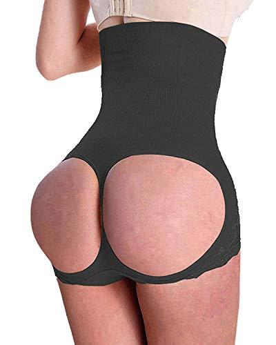 SAYFUT Women's Butt Lifter Shaper Seamless Tummy Control Hi-waist Thigh Slimmer, S(Waist 20