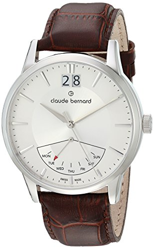 Claude Bernard mens 41001 3 AIN Jolie Classic Analog Display Swiss Quartz Brown Watch