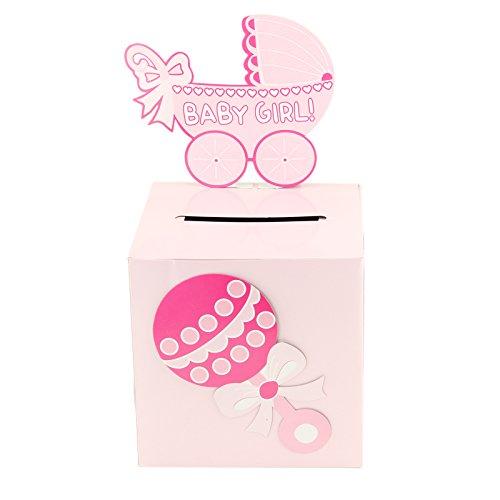 Adorox Pink Girl Baby Shower Wishing Well Card Box Decoratio