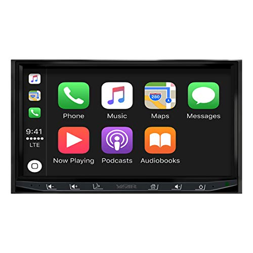ATOTO Year Series in-Dash Double Din Digital Media Car Stereo - SA102 CarPlay & Android Auto Receiver w/Bluetooth, AM/FM Radio Tuner,USB Video & Audio,and More ()