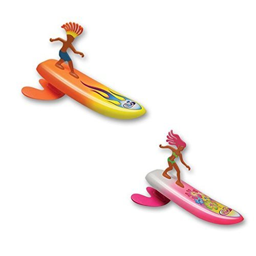 Surfer Dudes Wave Powered Mini-Surfer and Surfboard Beach Toy - 2 Pack - Sam and Bobbi by Surfer Dudes