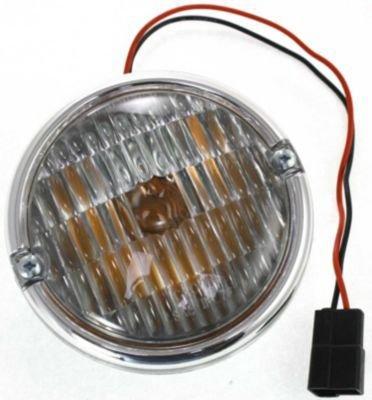 Evan-Fischer EVA22272027010 Parking Light Passenger or Driver Side Corner Lamp Park Reflector Marker Plastic lens Clear DOT, SAE approved