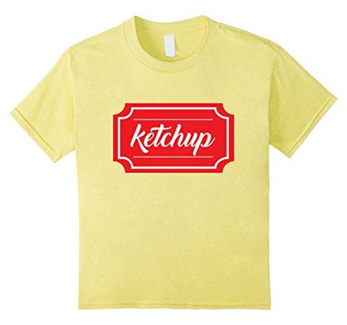 Kids Ketchup Shirt, Funny Condiment Matching Halloween Costume 12 Lemon (Ketchup And Mustard Costume)