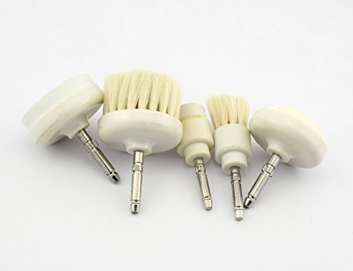 ary brush face skin care instrument spare parts parts is a great wool face brush, a small wool brush, a large foam brush, a small foam brush, one Rubstone ()