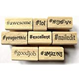Teacher's Hashtag Rubber Stamps
