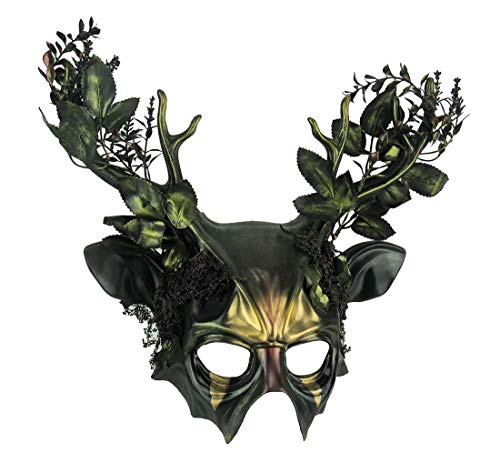 Things2Die4 Forest Green Wicked Woodland Deer Adult Costume Mask