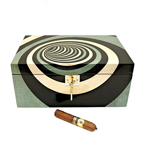 Cigar Star Chava Blu Marquetry Limited Edition 120 Cigar Humidor