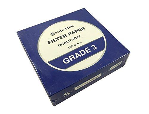 Supertek Filter Paper, Qualitative, Grade 3, 150 mm (Diameter) Pack of 100 sheets by Supertek (Image #2)'
