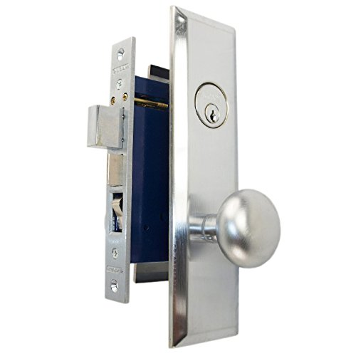Marks Metro 114A/26D Satin Chrome Mortise Entry, Thru Bolted, Lockset, Lock Set (Right Hand)