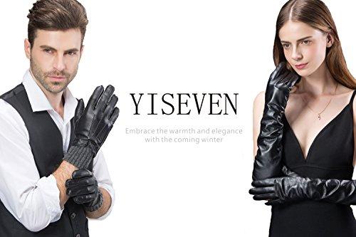 Yiseven Men S Deerskin Leather Warm Fur Fleece Lined