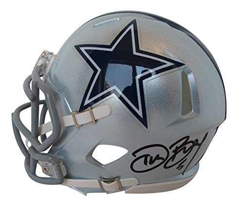 Dallas Cowboys Dan Bailey Signed Hand Autographed Riddell Speed Style Mini Football Helmet with Proof Photo of Signing and COA- Oklahoma State Cowboys