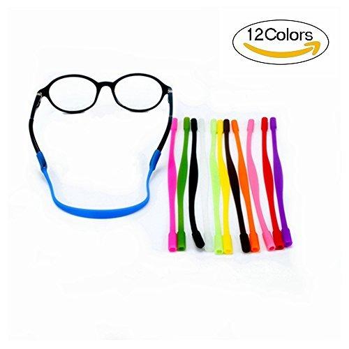 (YALEX 12 Colors Anti-slip Glasses Strap Sports Glasses Strap Holder for Kids ,Glasses chain 12)