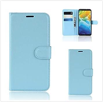 CHENYUXUAN Cubierta de Cuero para Funda Huawei P30 Lite, Kickstand Funda con Tapa Interior de TPU (Azul) Cubierta de la Caja paraHuawei Nova 4e ...