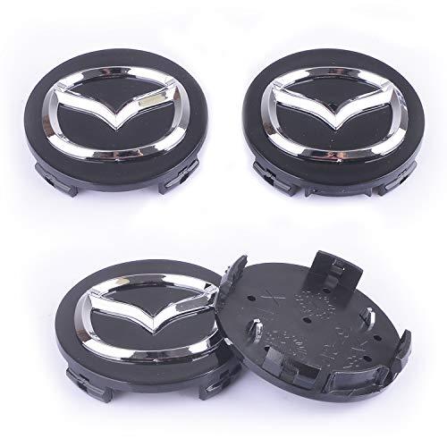 MonboAuto Wheel Center Caps HubCap-4PCS 56.5MM 2.25 Inches Wheel Center Hub Cap Cover Badge Emblem fit for Mazda 2 3 6 ATENZA AXELA CX-5 CX-7 CX-8