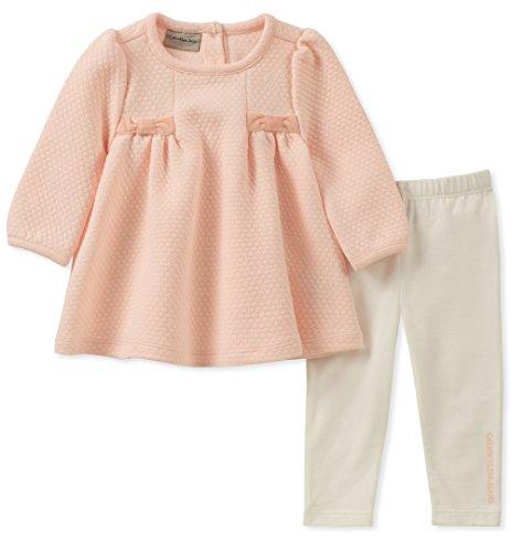 Calvin Klein Baby Girls 2 Pieces Tunic Legging Set, Light Pink/Vanilla, 24M