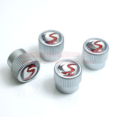 MINI Cooper S Genuine Factory OEM 36110429652 S Logo Valve Stem Caps 2002 - 2013: Automotive