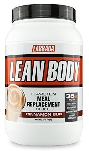 Labrada Nutrition Lean Body Hi-Protein Meal Replacement Shake, Cinnamon Bun, 2.47 Pound