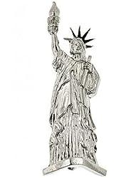 1928 Jewelry Silver-Tone Statue of Liberty Pin