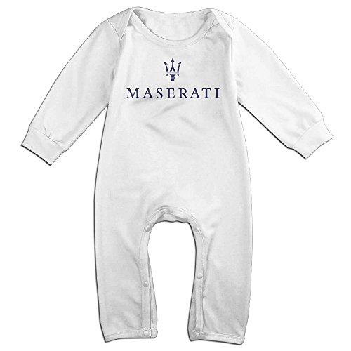 Maserati Baby Fashion Climbing Clothes Infant Rompers White
