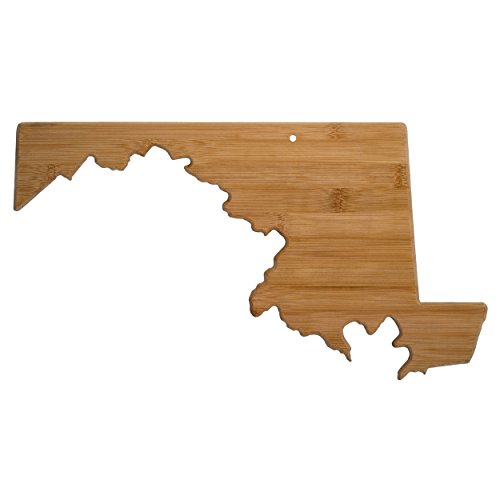 Totally Bamboo Maryland State Shaped Bamboo Serving and Cutting Board ()