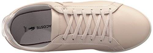 Lacoste Women's Rey Lace 417 1 Sneaker, Light Pink, 7 M US