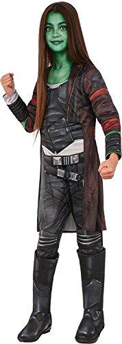 Rubie's Costume Guardians of the Galaxy Vol. 2 Deluxe Child's Gamora Costume, Multicolor, (Child Deluxe Gamora Costumes)